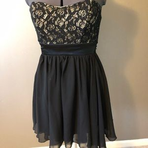 Black and Tan Homecoming Dress
